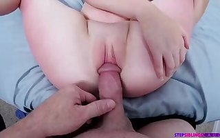 Jiggly nubile with ideally shaven slit is getting inserted with a rock rock-hard man sausage and liking it