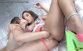 Abella Danger bangs her sapphic step-sista - SCREWBOX